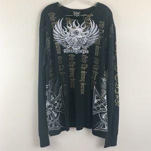 Bulzeye Couture Embellished Long Sleeve Tee XXL